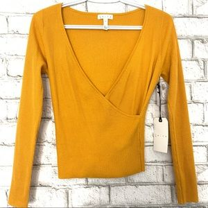 NWT Leith Yellow Sweater